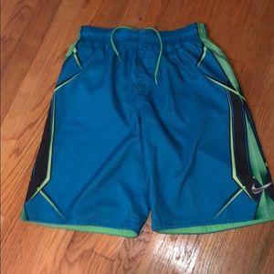 Nike bathing suit blue green boys xl extra-large